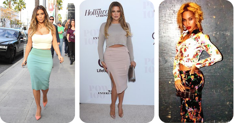 Is midriff baring fashion a growing trend of 2015 - Kim and Khloe Kardashian and Beyonce