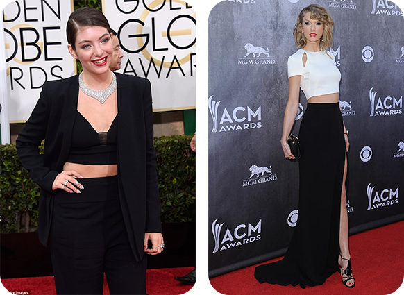 Is midriff baring fashion a growing trend of 2015-Taylor-Swift-and-Lorde
