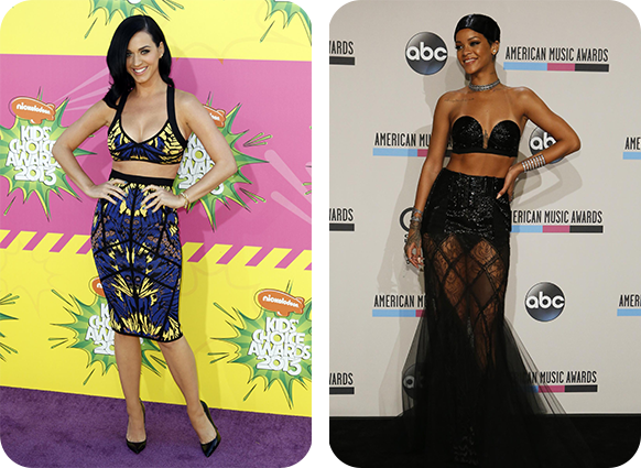 Is midriff baring fashion a growing trend of 2015 katyperry and rihanna