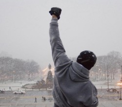 Rocky Balboa at the top of the Philadelphia Museum of Art steps. Photograph: Allstar/MGM/Sportsphoto Ltd. Allstar/MGM/Sportsphoto Ltd./Allstar