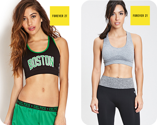 Boston Celtics & Heathered Seamless Sports Bra from Foever21