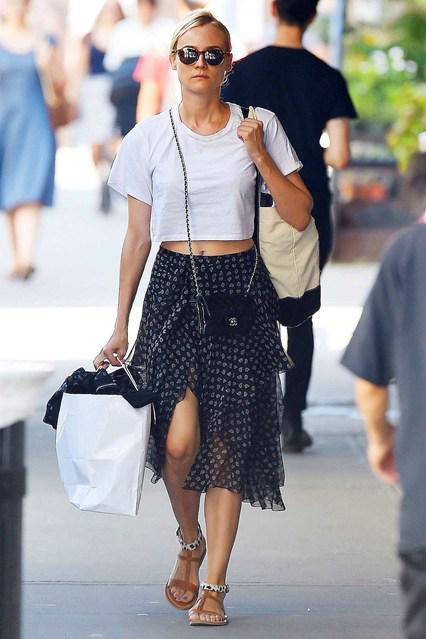 2015's Celebrity Crop Top Trends - Diane Kruger
