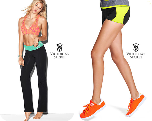Victoria Secret's Bling Bootcut Yoga Pant & PINK Ultimate Yoga Shortie